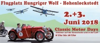 Sa. 02.06. +  So. 03.06.2018 | Classic-Motor-Days